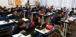 3532:Estudantes do 5º ano D participam de oficina de matemática