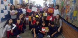 3841:Estudantes do Correia Lima criam livros sobre amor e gentileza