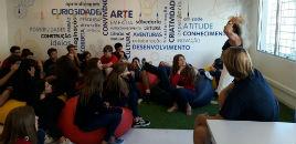 4228:Estudantes conhecem o funcionamento da nova Biblioteca