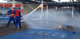 1529 - Farroupilha realiza simula��es de evacua��o em caso de inc�ndio