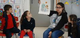 3545:Crianças do Nível 5B conhecem o trabalho do DMAE