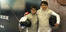 4563:Irmãos conquistam medalhas em torneio de esgrima