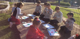 - Crianças do N5B retratam a natureza presente no colégio