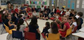 4141:Crianças do Nível 5B tiram dúvidas sobre o 1º ano