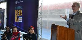 4478:Patrono Ricardo Azevedo na abertura da Semana Literária