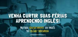 4118:Inscrições prorrogadas para aulas de inglês gratuitas nas férias