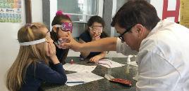 4038:Estudantes do 2º ano tornam-se detetives no Lab. Química