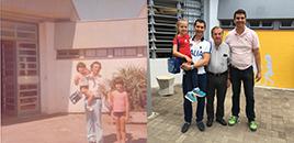 4883:Ex-aluno recria foto feita em 1978 no Jardim de Infância