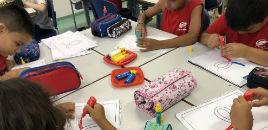 4305:Estudantes do 2º ano treinam a letra cursiva