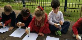4567:Turmas da Educação Infantil fazem atividades ao ar livre