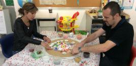 4034:Famílias do Nível 4D criam mandalas para os filhos