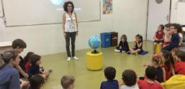 3982:Crianças do Nível 3C estudam a rotação da Terra