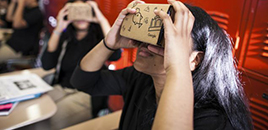 - Óculos de realidade virtual fazem alunos viajarem sem sair da escola
