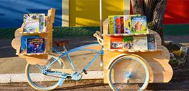 1324:Bicicleta adaptada promove intercâmbio de livros entre escolas
